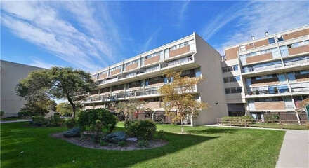 Queens Court Condos 366 The East Mall Toronto MLS Listings For Sale
