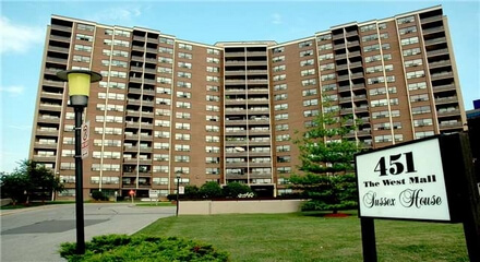 Sussex House Condos 451 The West Mall Toronto MLS Listings For Sale